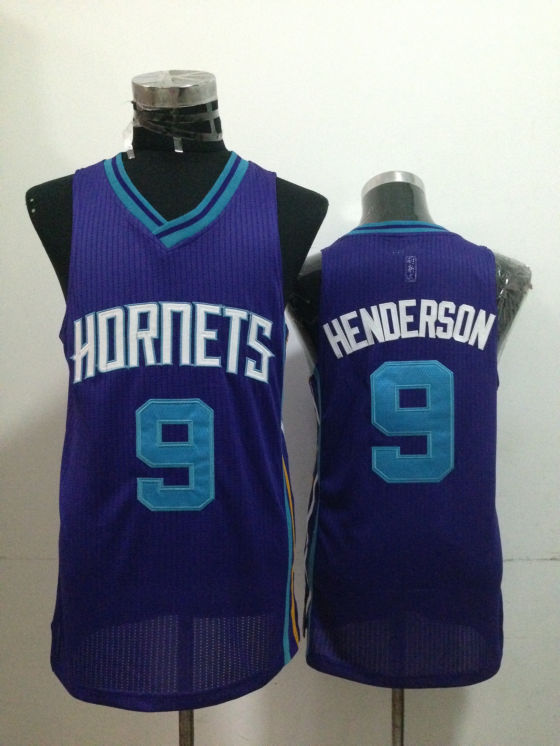 Hornets 9 Henderson Purple Jerseys