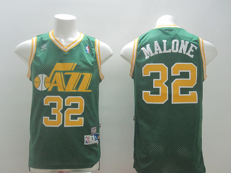 Jazz 32 Malone Green New Revolution 30 Jerseys