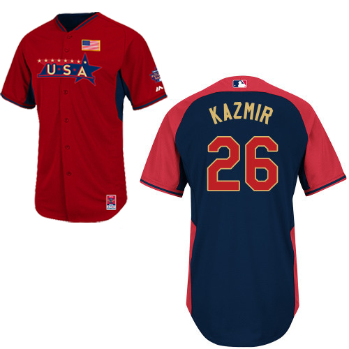 USA 26 Kazmir Red 2014 Future Stars BP Jerseys