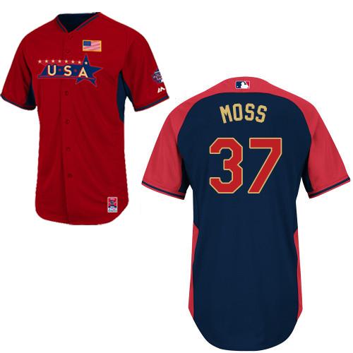 USA 37 Moss Red 2014 Future Stars BP Jerseys