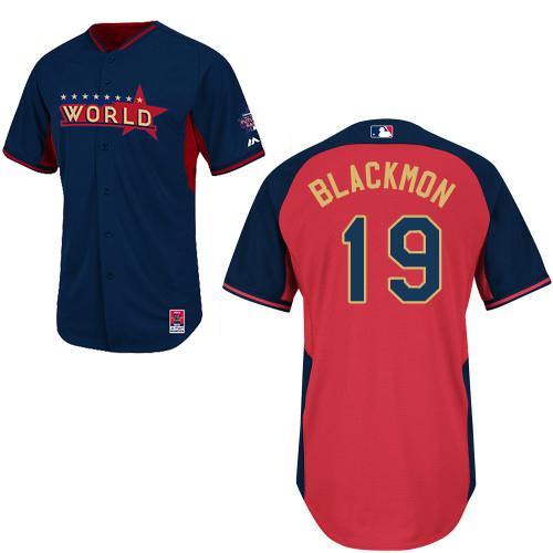 World 19 Blackmon Blue 2014 Future Stars BP Jerseys