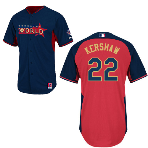 World 22 Kershaw Blue 2014 Future Stars BP Jerseys