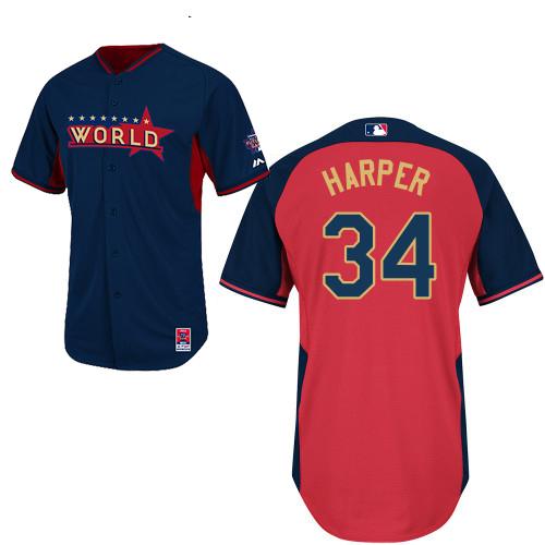 World 34 Harper Blue 2014 Future Stars BP Jerseys