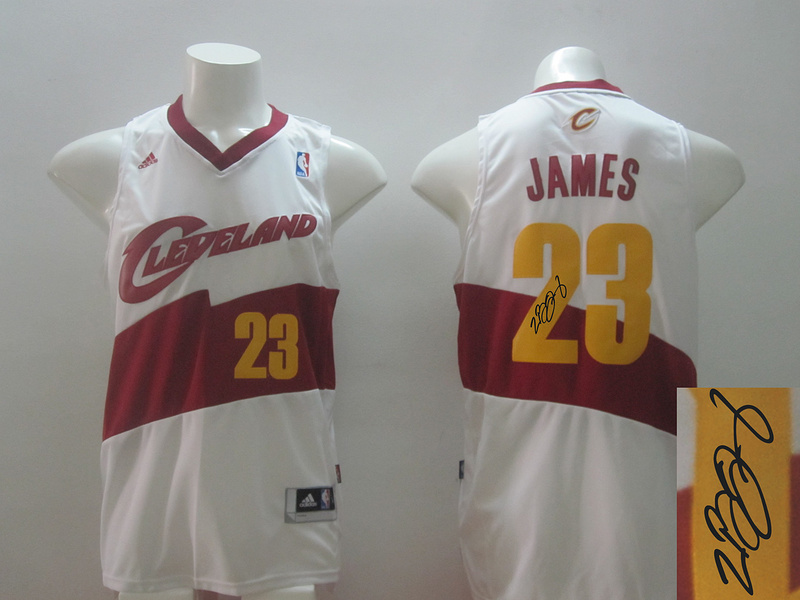 Cavaliers 23 James White Revolution 30 Throwback Signature Edition Jerseys
