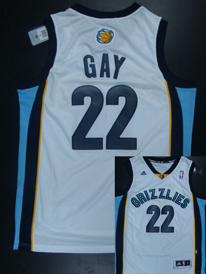Grizzlies 22 Gay White New Revolution 30 Jerseys