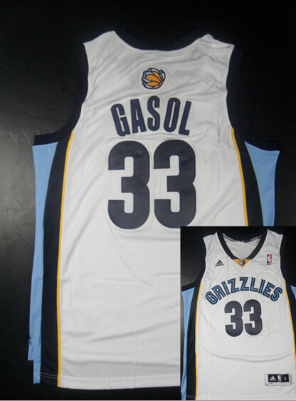 Grizzlies 33 Gasol White New Revolution 30 Jerseys
