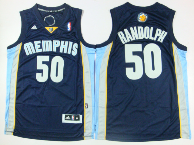 Grizzlies 50 Randolph Dark Blue New Revolution 30 Jerseys