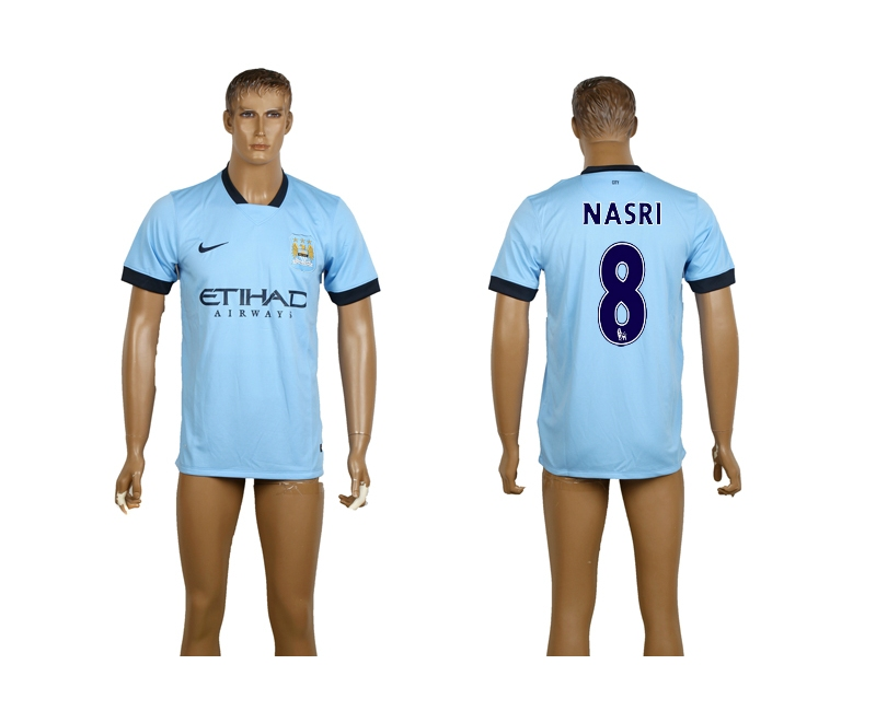 2014-15 Manchester City 8 Nasri Home Thailand Jerseys
