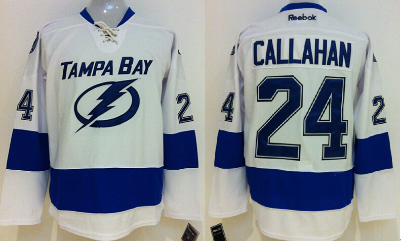 Lightning 24 Callahan White Jerseys