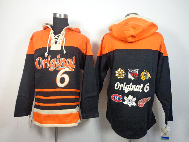 NHL Original 6 Hockey Teams Black Hoodies