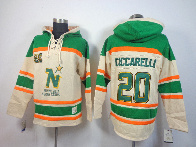 NHL Stars 20 Ciccarelli Cream Hoodies