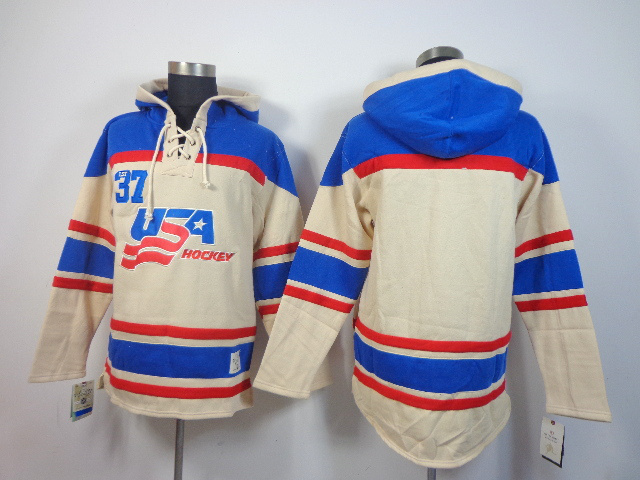 NHL USA Blank Cream Hoodies